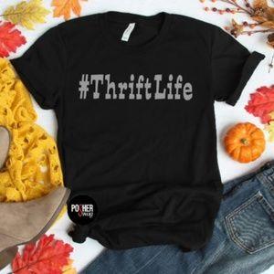 "6b6a5a31b0723 ""Thrift Life"" Posher Graphic Tee Shirt"